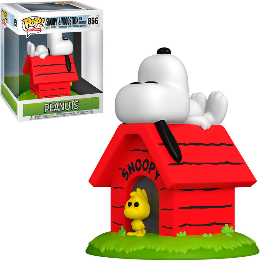FUNKO POP ANIMATION PEANUTS DELUXE - SNOOPY & WOODSTOCK WITH DOGHOUSE 856