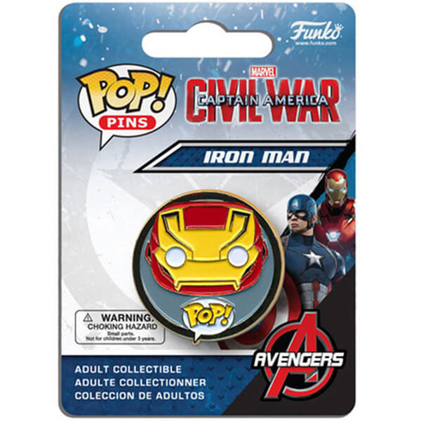FUNKO POP PINS CAPTAIN AMERICA IRON MAN