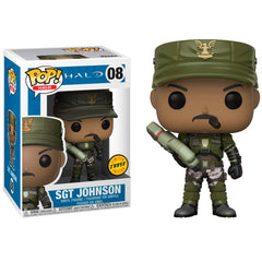 FUNKO POP CHASE GAMES HALO - SGT JOHNSON 08