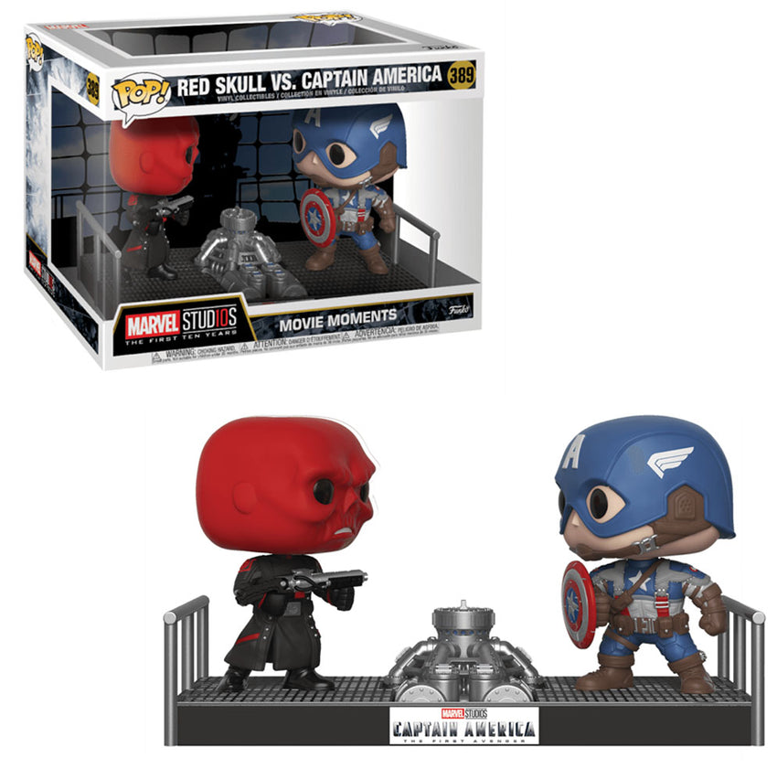 FUNKO POP MARVEL STUDIOS *MOMENTS* - RED SKULL VS.CAPTAIN AMERICA 389