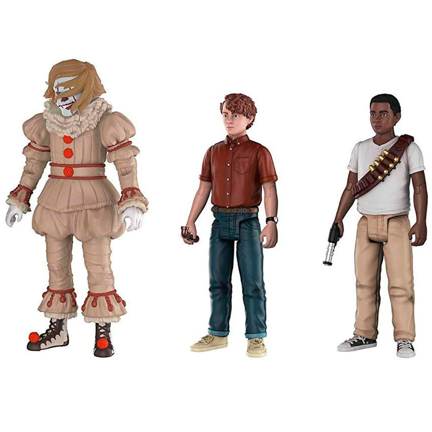 BONECOS FUNKO ACTION IT - PENNYWISE, STAW AND MIKE (3 PACK)