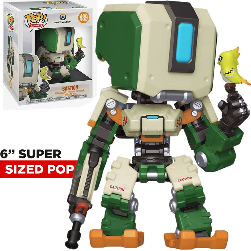 FUNKO POP GAMES OVERWATCH S5 - BASTION 489 SUPER SIZED 6""