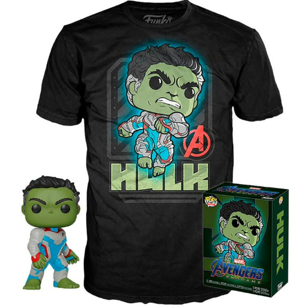 BOX FUNKO POP TEES MARVEL AVENGERS ENDGAME - HULK GLOW + CAMISETA
