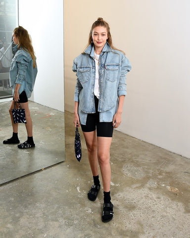 Even Gigi Hadid agrees that socks and shorts go well together!