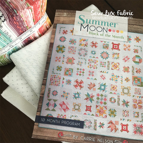 Summer Sampler 2020.Summer Moon Block Of The Month Sew Lux Fabric