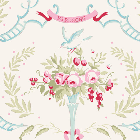 Tilda Old Rose Birdsong Dove White