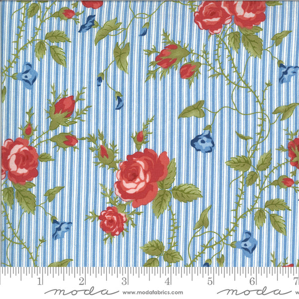 Harbor Springs Floral Stripe Light Blue