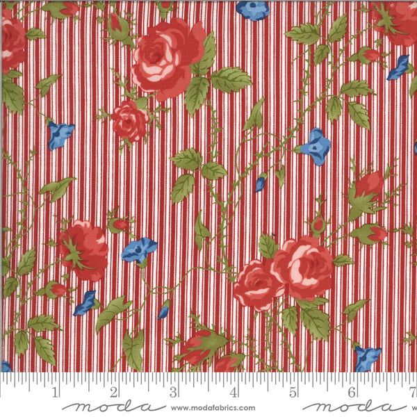 Harbor Springs Floral Stripe Red