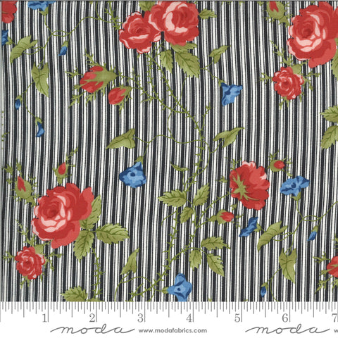 Harbor Springs Floral Stripe Charcoal