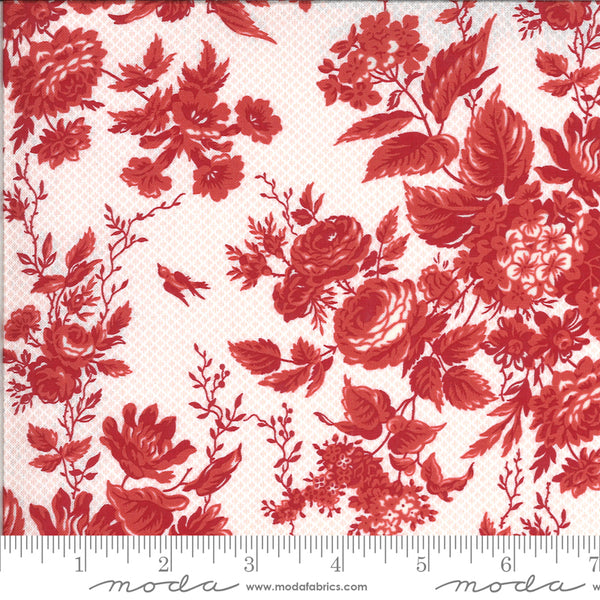 Roselyn Floral Rose Red