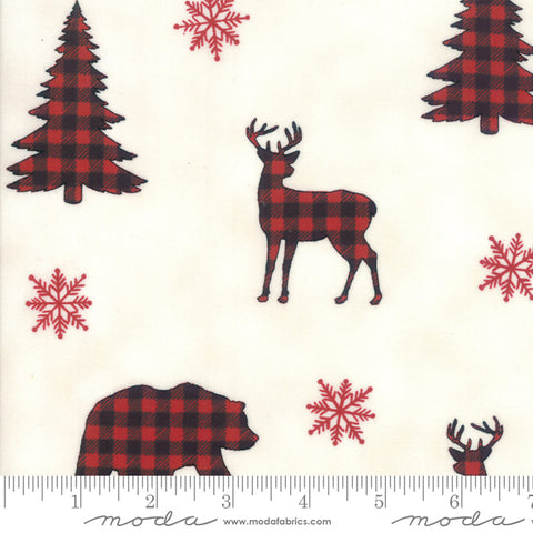 Holiday Lodge Buffalo Plaid Forest Winter White