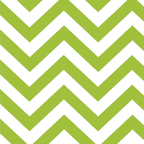 Half Moon Modern Small Zig Zag Lime - 35 inches