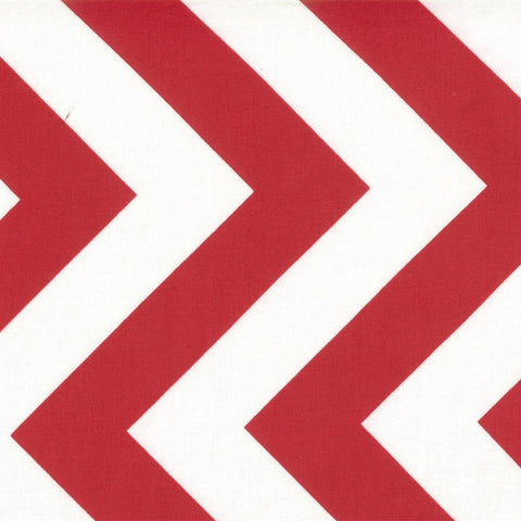 Half Moon Modern Zig Zag Ruby - 1 yard 28 inches