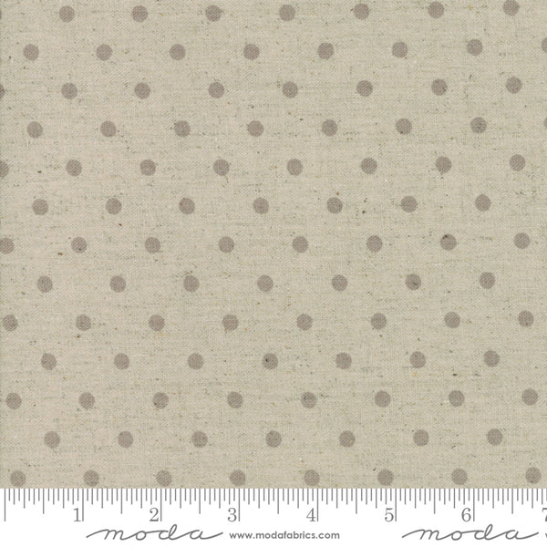 Homegrown Linen Putty Linen Dot