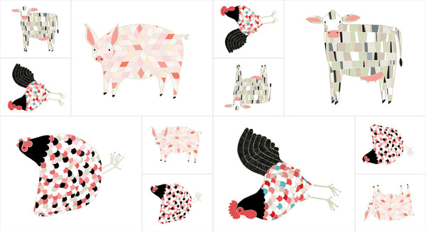 Farm Fresh Farm Animals PANEL Multi