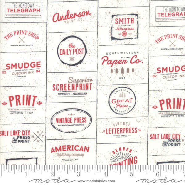 The Print Shop Logos Cream Red