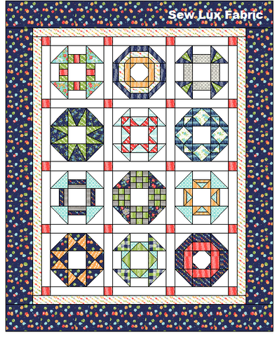 Hop Skip & Jump Block-of-the-Month PDF Patterns