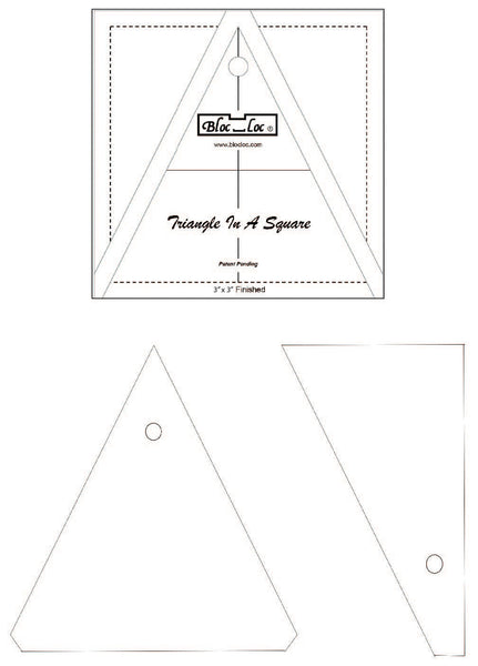 Bloc Loc 3 Inch Triangle in a Square Ruler