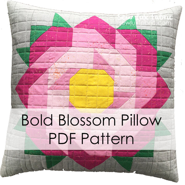 Bold Blossom Pillow PDF Pattern