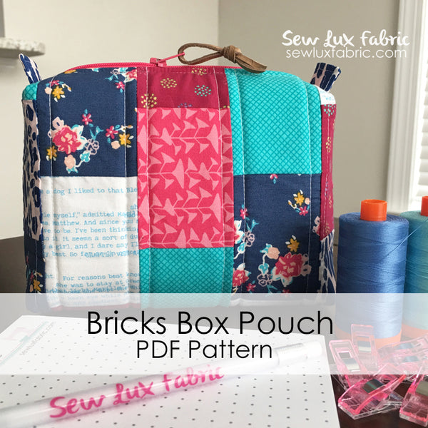 Bricks Box Pouch Pattern PDF