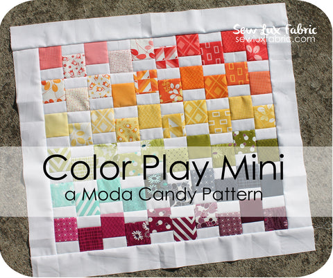 Color Play Mini Quilt Pattern - PDF