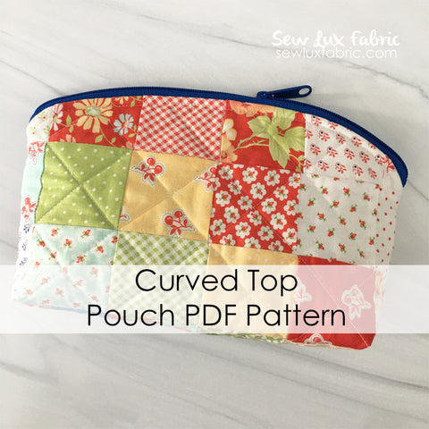 Curved Top Pouch Pattern - PDF