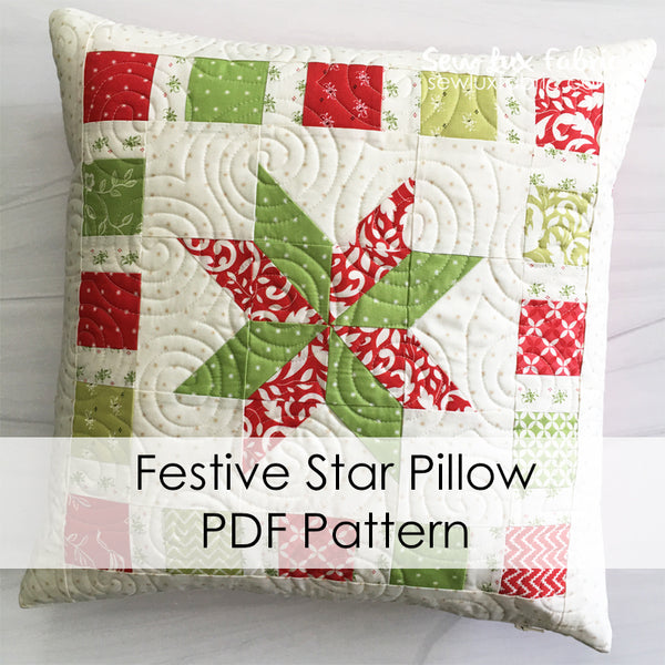 Festive Star Pillow PDF Pattern