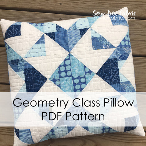 Geometry Class Pillow PDF Pattern