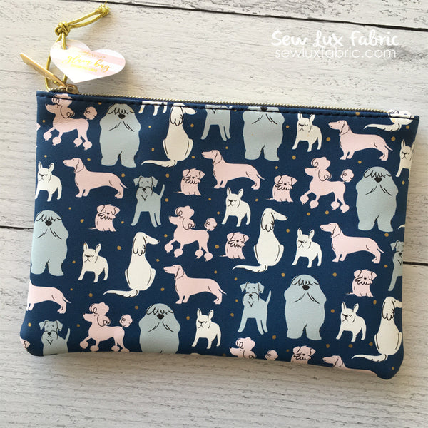 Glam Bag - Sketched Dogs