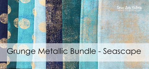 Grunge Metallic Seascape FQ Bundle