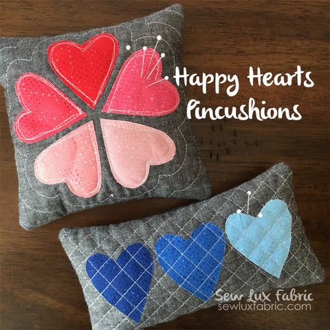 Happy Hearts Pincushion Pattern PDF