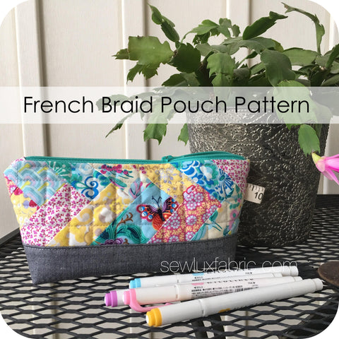 French Braid Pouch Pattern PDF