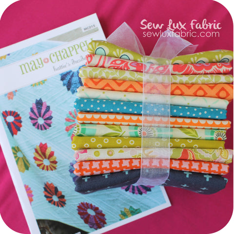 Hattie's Dresden Lap Quilt Kit - May Chappel Mix