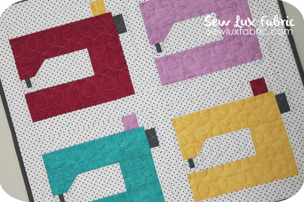 Machine Sewn Mini Quilt Pattern - PDF