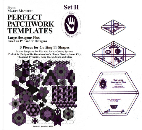 Marti Michell Large Hexagon Templates - Set H