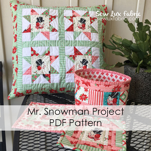 Mr. Snowman Project PDF Pattern