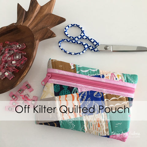 Off Kilter Quilted Pouch Pattern PDF