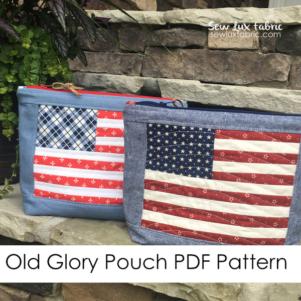 Old Glory Pouch PDF Pattern