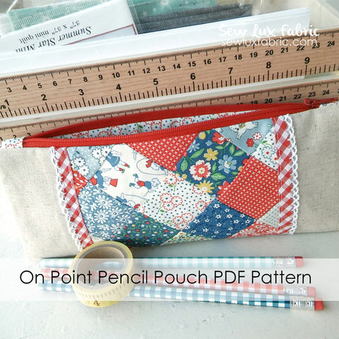 On Point Pencil Pouch Pattern PDF