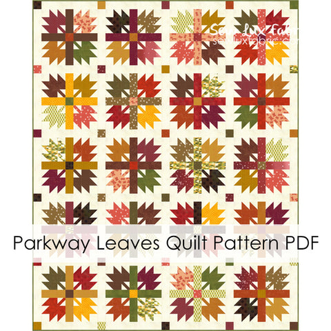 Parkway Leaves Quilt Pattern - PDF