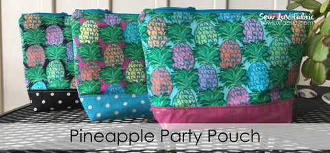 Pineapple Party Pouch Kit - Choose Color