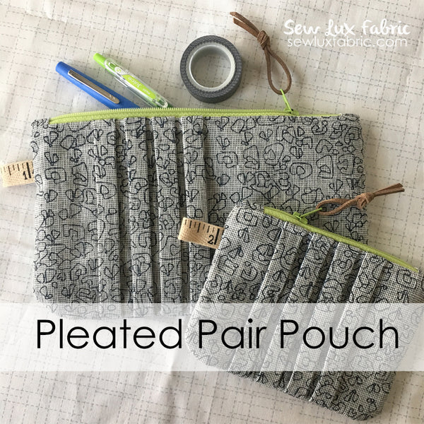 Pleated Pair Pouch - PDF Pattern