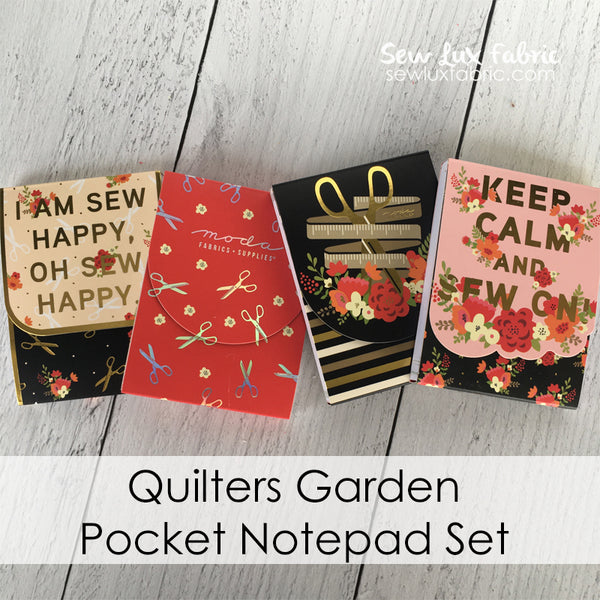 Quilters Garden Pocket Notepad Set