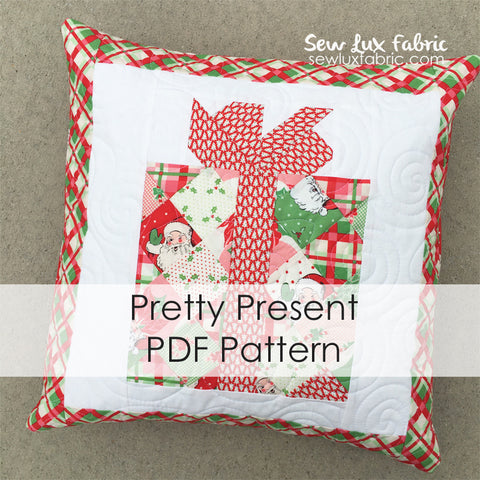 Pretty Present Pillow PDF Pattern