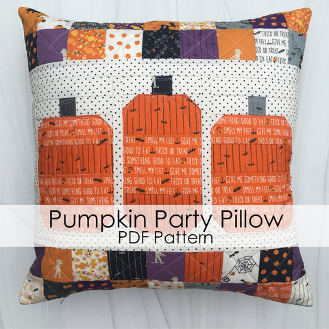 Pumpkin Party Pillow PDF Pattern