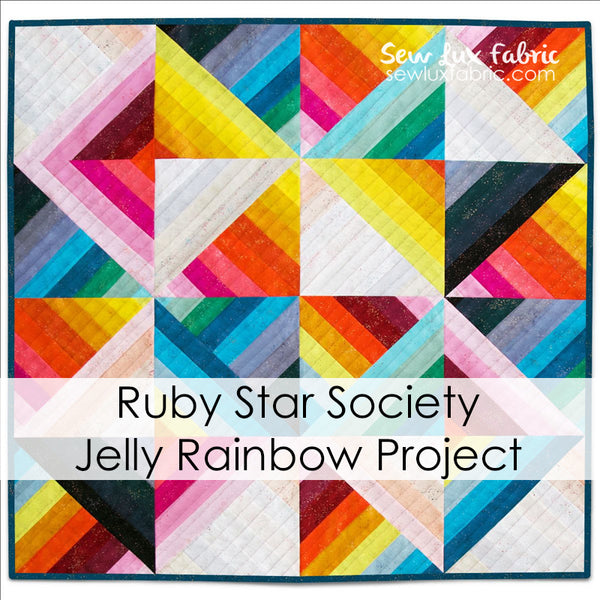 Ruby Star Society Jelly Rainbow Quilt PDF Pattern