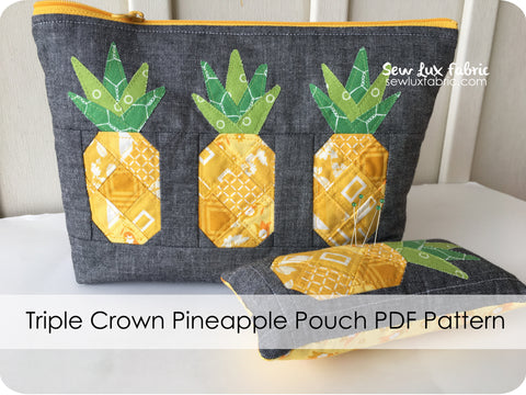 Triple Crown Pineapple Pouch Pattern - PDF