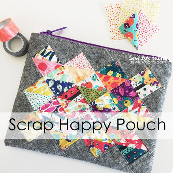 Scrap Happy Pouch - PDF Pattern