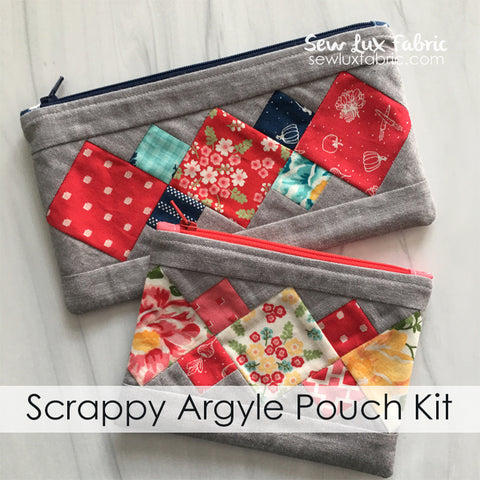 Scrappy Argyle Pouch Kit