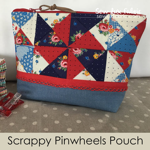 Scrappy Pinwheels Pouch Kit